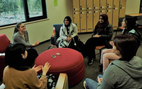 Members of the ASL Club met at the club room in Brier 247 to discuss current business and play Uno.