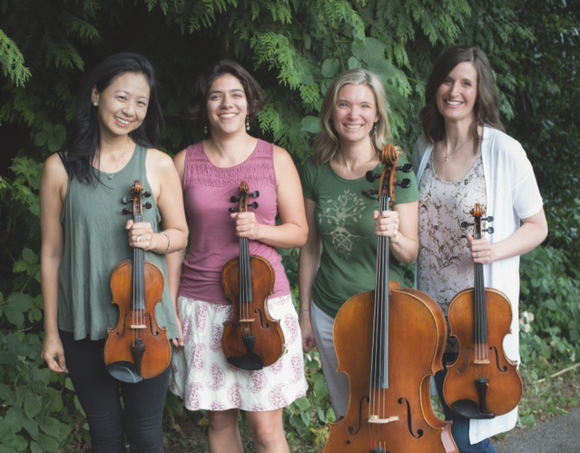 The members of Bella Sala are (from left to right) Pamela Liu, Rose McIntosh, Erika Pierson and Jenn Glenn Shoval. They will perform at EdCC's BlackBox Theatre on Tuesday, April 18, at 7:30 p.m. with Annie Chang Center.