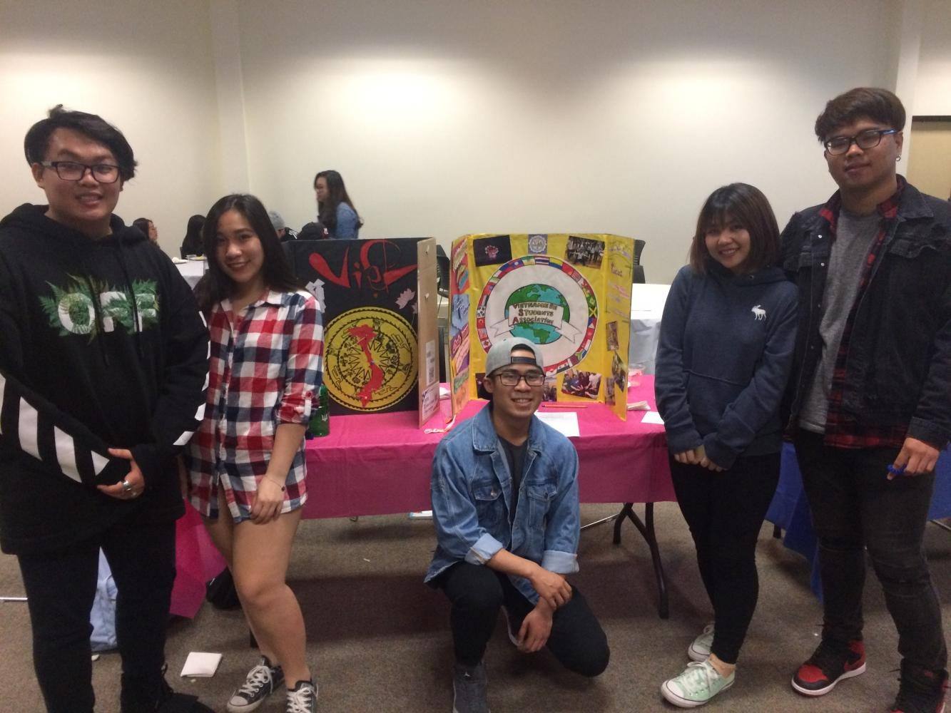 Members of the college's Vietnamese Student Association (VSA) represented their club at a booth at the Spring Club Fair on May 10. This year, the VSA catered an event and donated the proceeds to an orphanage.