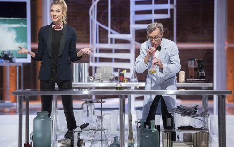 In Netflix's new show Bill Nye Saves the World, famous model Karlie Kloss assists science edutainer Bill Nye in humorously explaining how carbon dioxide forms carbonic acid in water, and how our oceans are affected by climate change.