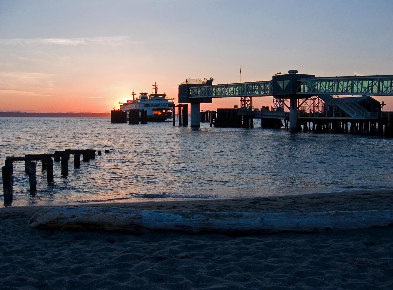 The Edmonds ferry seen from Brackett's Landing. The Edmonds area has plenty of events and activities to enjoy.