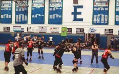 Women in Roller Skates Topple One Another (Consensually)
