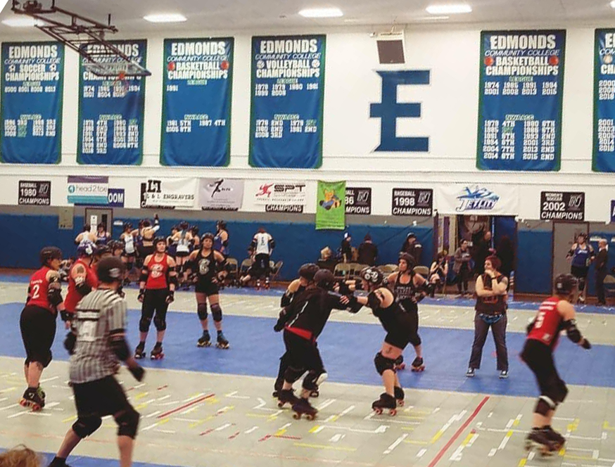 Women+in+Roller+Skates+Topple+One+Another+%28Consensually%29