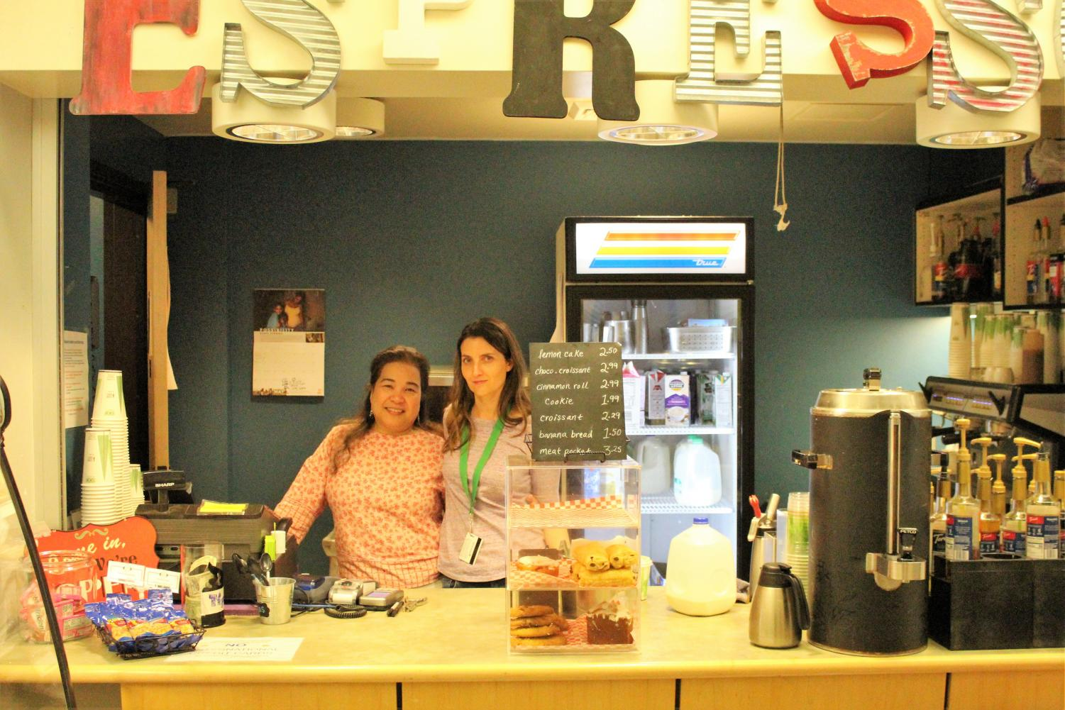 The faces of the Triton Espresso II: employees Sally Leskla and Lisa Roche.