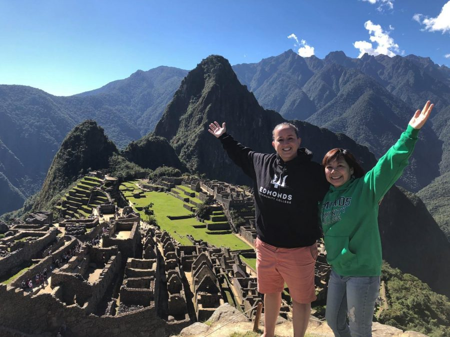 Emily Fissel and Marie Tran on their trip to Peru in 2018.
